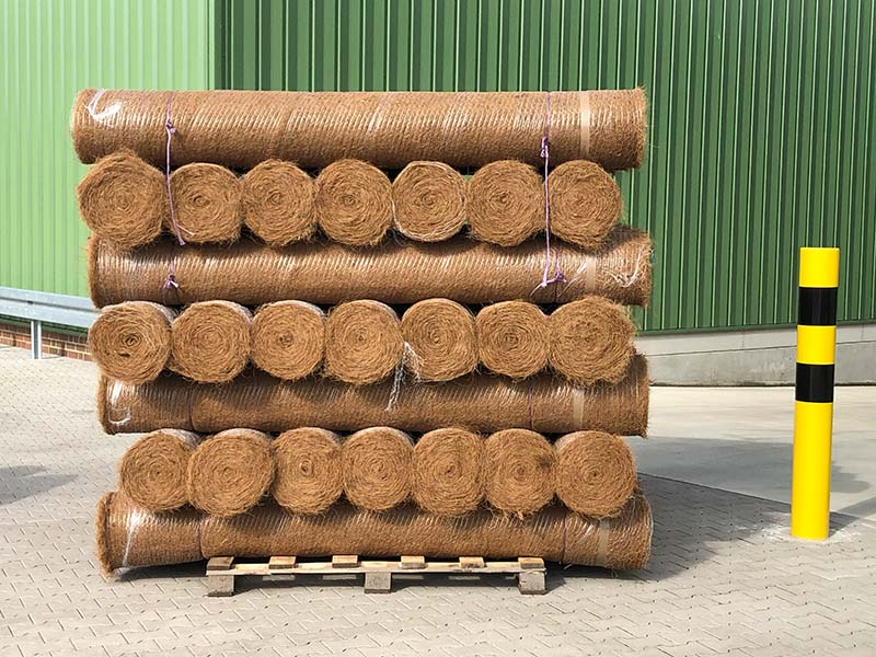 Erosion control blankets which are ready for dispatch